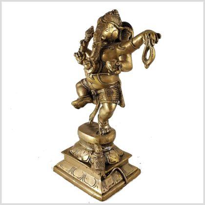 Tanzender Ganesha Messing Seitenansicht