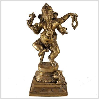 Tanzender Ganesha Messing Vorderansicht