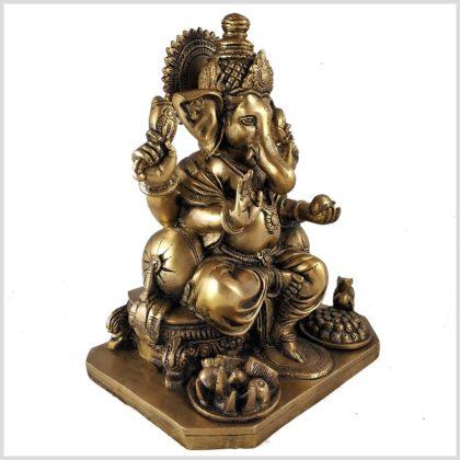 Sitzender Ganesha 5,8kg Messing Seitenansicht Rechts