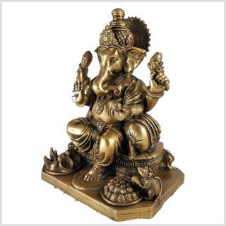 Sitzender Ganesha 5,8kg Messing Seitenansicht