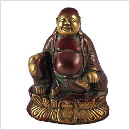 Lachende Buddha 1,5kg rotgold Vorderansicht