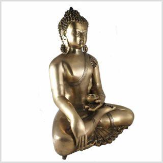 Erdender Buddha Kundal aus Messing Seitenansicht
