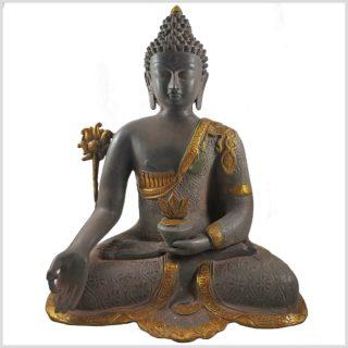 Medizinbuddha nepalgrau 44cm Vorderansicht