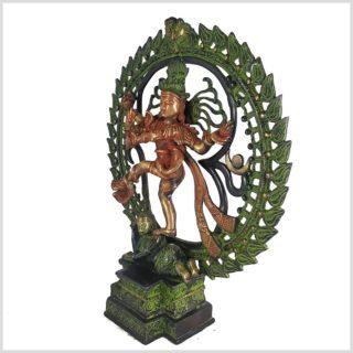 Tanzender Shiva 43cm rotgrün Seitenansicht Links