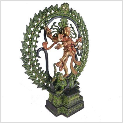 Tanzender Shiva 43cm rotgrün Seitenansicht