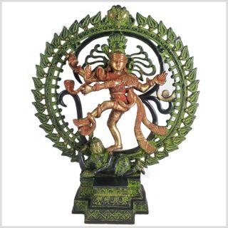 Tanzender Shiva 43cm rotgrün Vorderansicht
