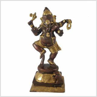 Ganesha tanzend Messing Kupfer Vorderansicht