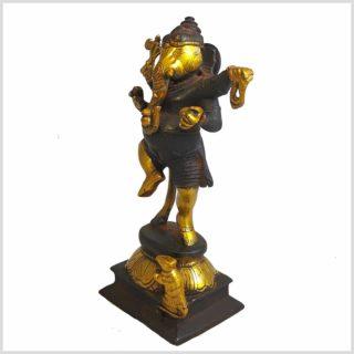 Ganesha Stehend braungold Seitenansicht
