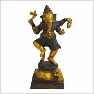 Ganesha Stehend braungold Vorderansicht