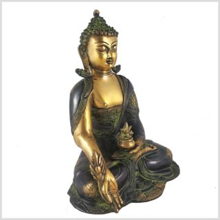 Medizinbuddha 2,8kg Asthamangala grüngold Rechts