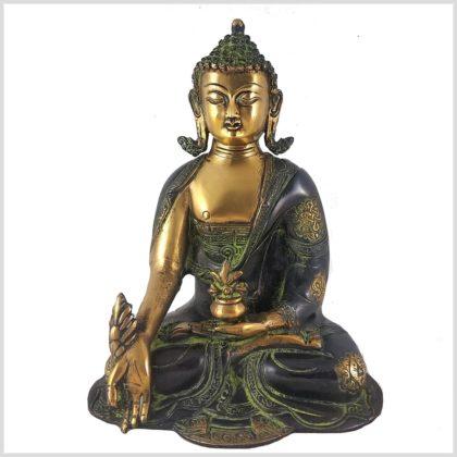 Medizinbuddha 2,8kg Asthamangala grüngold Vorderansicht