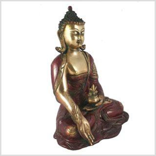 Medizinbuddha 2,8kg Asthamangala rotgold Seitenansicht Rechts