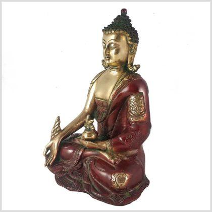 Medizinbuddha 2,8kg Asthamangala rotgold Seitenansicht