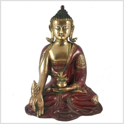 Medizinbuddha 2,8kg Asthamangala rotgold Vorderansicht