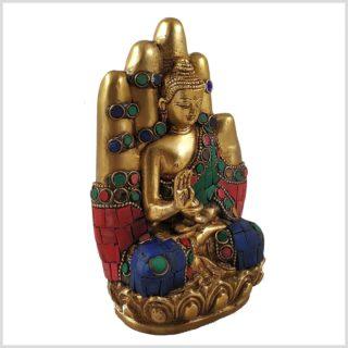 Buddhahand Steinarbeit Seitenansicht Rechts