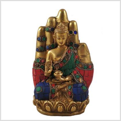 Buddhahand Steinarbeit Vorderansicht