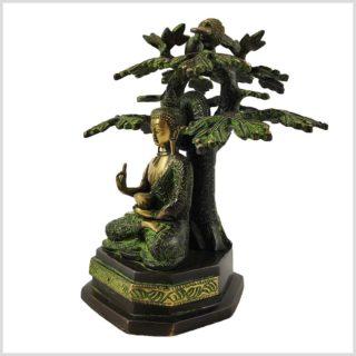 Buddha unterm Bodhibaum Seitenansicht Links
