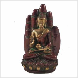 Buddhahand Messing rotgold Vorderansicht