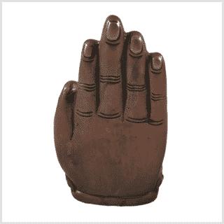 Buddhahand Messing Kupfer Hinten
