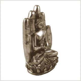 Buddhahand Messing Silber Rechts