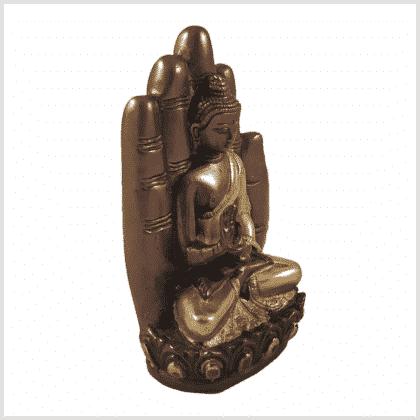 Buddhahand Messing Kupfer Seitenansicht Rechts