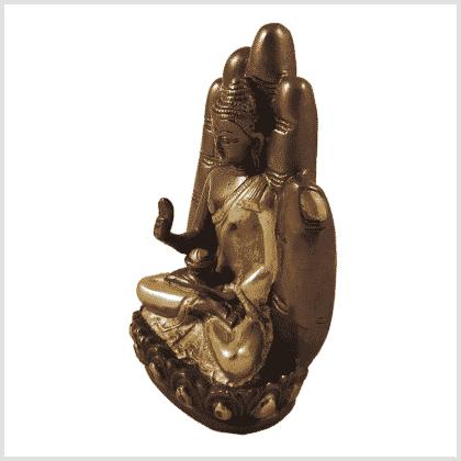 Buddhahand Messing Kupfer Seitenansicht Links