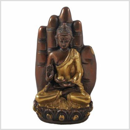 Buddhahand Messing verkupfert Vorderansicht