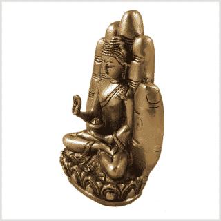 Buddhahand Messing Seitenansicht