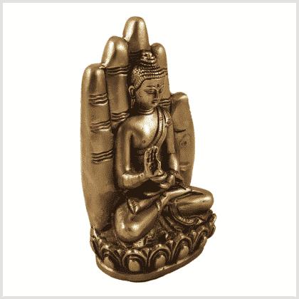 Buddhahand Messing Seitenansicht rechts