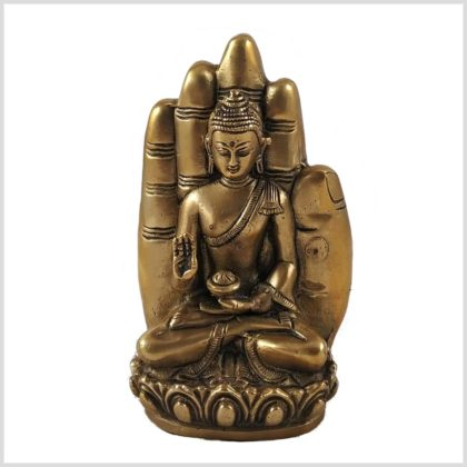 Buddhahand Messing Vorderansicht