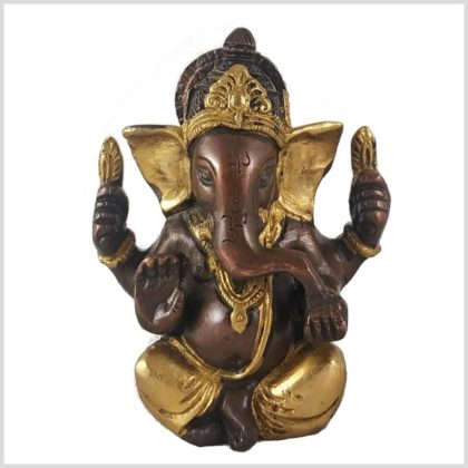 Ganesha 760 Gramm Messing verkupfert Front