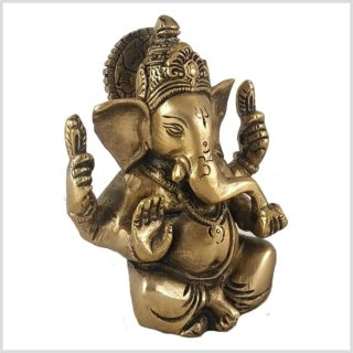 Ganesha 39cm Messing Seite Links