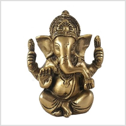 Ganesha 760 Gramm Messing Front
