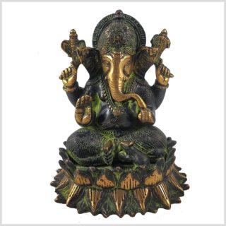 Ganesha Lotus schwarzgrün Vorderansicht