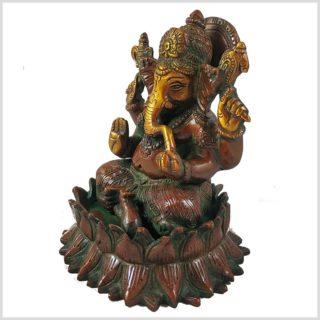 Ganesha Lotus braungrün Seitenansicht