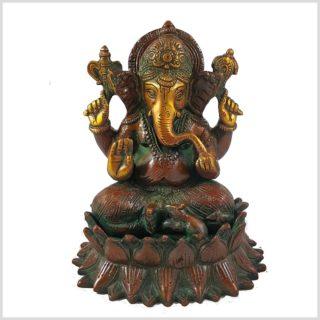 Ganesha Lotus braungrün Vorderansicht