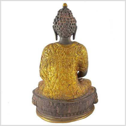 Erleuchteter Buddha 33cm graugold Hinten
