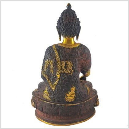 Erdender Buddha braungold 33cm Hinten