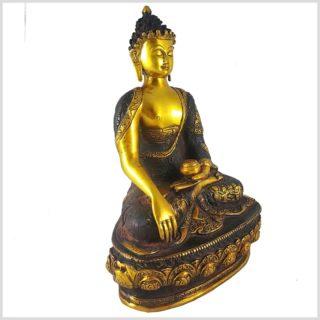 Erdender Buddha braungold 33cm Seitenansicht Rechts