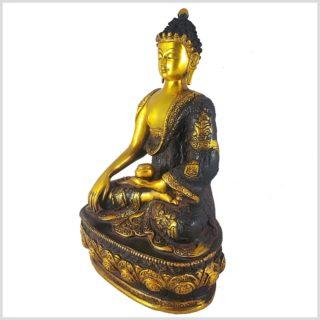 Erdender Buddha braungold 33cm Seitenansicht Links