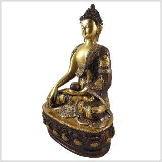 Erdender Buddha TriColoure 33cm Seitenansicht