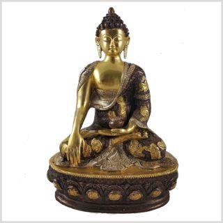 Erdender Buddha TriColoure 33cm Vorderansicht