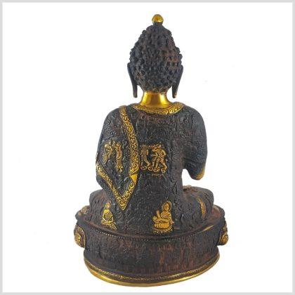 Lehrender Buddha Nepalbraun 4kg Hinten