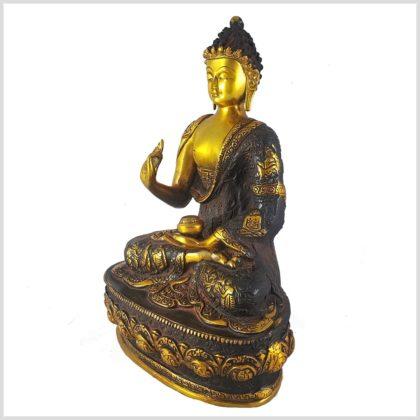 Lehrender Buddha Nepalbraun 4kg Seitenansicht Links
