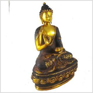 Lehrender Buddha Nepalbraun 4kg Seitenansicht