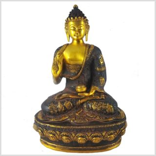 Lehrender Buddha Nepalbraun 4kg Vorderansicht