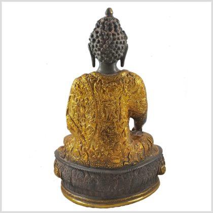 Medizinbuddha 33cm graugold Hinten