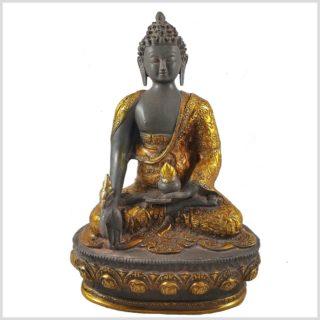 Medizinbuddha 33cm graugold Vorderansicht
