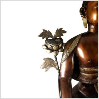 Medizinbuddha 29kg Kupferantik Blüte
