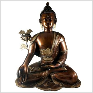 Medizinbuddha 29kg Kupferantik Vorderansicht